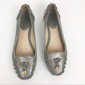 kade Spade Gray Flat Loafer Shoes Size 6M